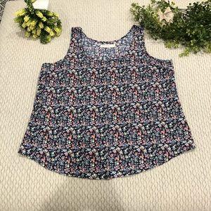 2/$12 floral tank top size XL